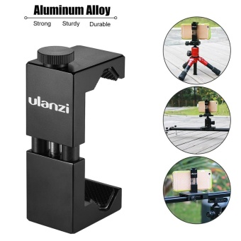 Ulanzi Metal Smartphone Clip Holder Frame Case Bracket Mount for iPhone 7/7s/6/6s for Huawei Samsung Cellphone Selfie Portrait Outdoor Video Photography ^ - intl