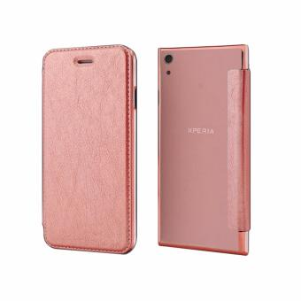 Ultra Clear Slim Case with Flip Cover for Sony Xperia XA1 (RoseGold)