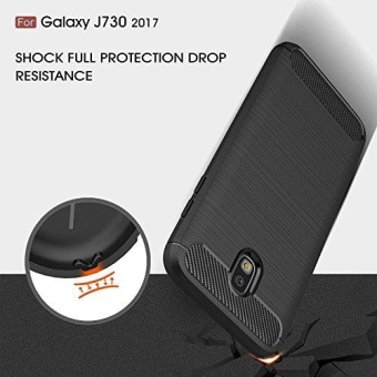 Ultra Light Carbon Fiber Armor ShockProof Brushed Silicone Grip Case for Samsung Galaxy J7 Pro 2017 J730 - intl - 2