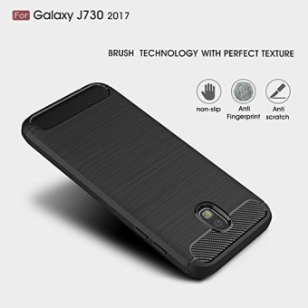 Ultra Light Carbon Fiber Armor ShockProof Brushed Silicone Grip Case for Samsung Galaxy J7 Pro 2017 J730 - intl - 4