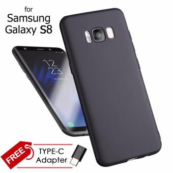 Ultra Slim Anti-Slip TPU Cell Phone Case Cover for Samsung GalaxyS8 (Black)