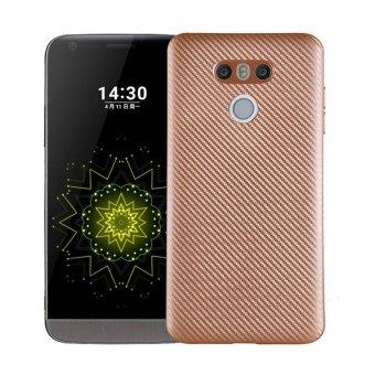 Ultra Slim Carbon Fibre Shockproof Protective Case Cover For LG G6Gold - intl(Gold) - 3