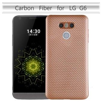 Ultra Slim Carbon Fibre Shockproof Protective Case Cover For LG G6Gold - intl(Gold) - 2