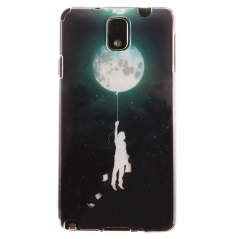 Ultra Slim Fit Soft TPU Phone Back Case Cover for Samsung GalaxyNote 3 N9000 (Balloon Moon) - Intl