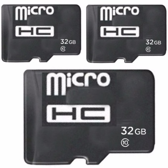 Ultra SQUNB-32G 32GB Class 10 MicroHC Memory Card Set of 3