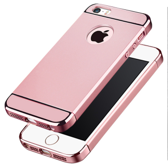 Ultra Thin 3 in 1 Combo Case for Apple iPhone 5 / 5S / SE (Rose Gold)