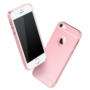 Ultra Thin 3 in 1 Combo Case for Apple iPhone 5 / 5S / SE (Rose Gold) - 4