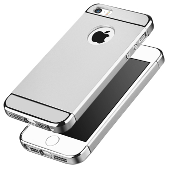 Ultra Thin 3 in 1 Combo Case for Apple iPhone 5 / 5S / SE (Silver)