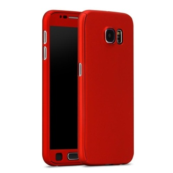 Ultra-Thin 360 Fullprotection Cover Case for Samsung Galaxy S7(Red)