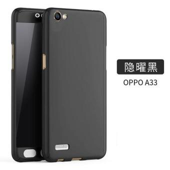 Ultra-thin Full Protection 360 Case for Oppo A33 (Black)