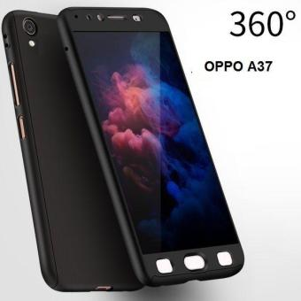 Ultra-thin Full Protection 360 Case for Oppo A37 (Black)
