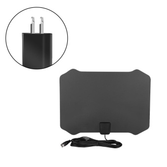 Ultra-thin High Gain Indoor Amplified TV Antenna with 16ft Cable 50Miles Range US Plug - intl - 3