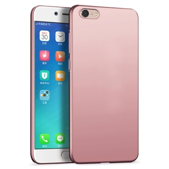 Ultra Thin PC Case For OPPO A39 / A57 Hard Shell Cover Anti-SlipMatte Coating Pink - intl