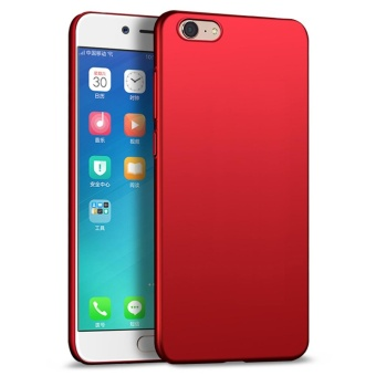 Ultra Thin PC Case For OPPO A39 / A57 Hard Shell Cover Anti-SlipMatte Coating Red - intl