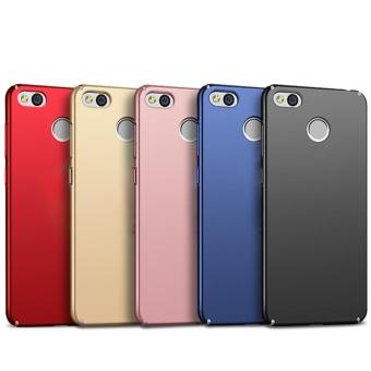 Ultra Thin PC Case For Xiaomi Redmi 4X Hard Shell Cover Anti-SlipMatte Coating Pink - intl - 5