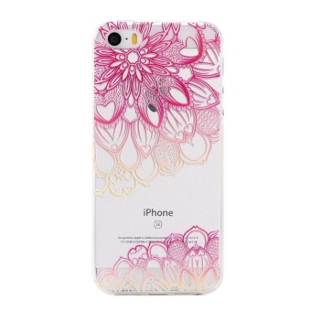 Ultra-Thin Soft Flexible TPU Case for iPhone 5 5s SE (Pattern-3) -intl