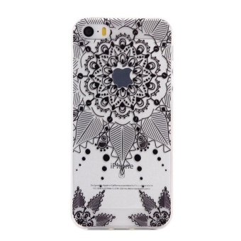 Ultra-Thin Soft Flexible TPU Case for iPhone 5 5s SE (Pattern-8) -intl