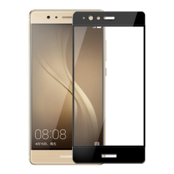 Ultra Thin Tempered Glass Screen Protector Guard for Huawei P9(Black)