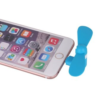 Ultralite Cell Phone Mini Fan for Apple iPhone5/5s/6/6s/6sPlus/iPads and Powerbanks with 8-pin LightningConnector Port (Blue) - 5