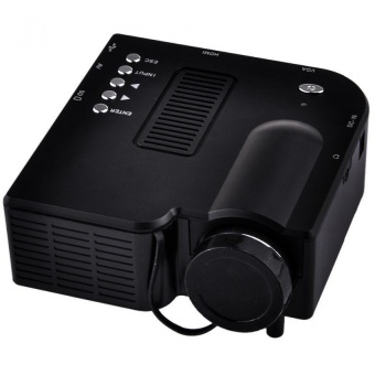 Unic Uc28 Mini Portable Projector (Black) with Free B-5 Mini Portable Bluetooth Speaker (Silver)