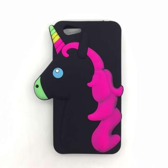 Unicorn Silicon Character Protective Shockproof Case for Vivo Y53(2017) (Black)