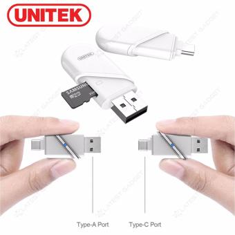 Unitek Y-9323 Type-C And USB-A OTG Micro SD Card Reader (White)