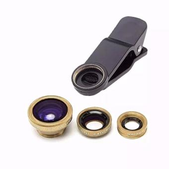 Universal 3 In 1 Clip On Fish Eye Mobile Camera Lens (GOLD) Price Philippines
