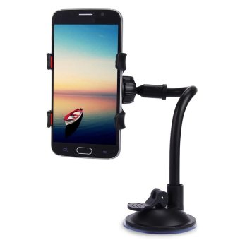 Universal 360 Degrees Rotation Long Arm Car Windshield Holder MountBracket Stand for Cell Phones - intl