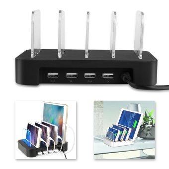 Universal 5V 4.8A 4-Port USB Charging Station Dock Stand Charger USPlug - intl - 3