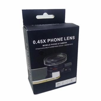 Universal Clip Lens 0.45x 37mm Super Wide Angle + Macro Phone Lens(Black) - 2