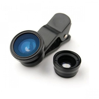 Universal Clip Lens for Mobile Phone (Black)