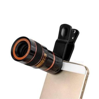 Universal Clip Telescope Lens Mobile Phone Lens camera lenses (Red) Price Philippines