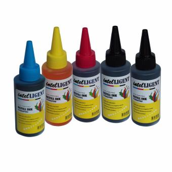 Universal Dye Ink Package 100ml Set of 5 (2pc Black, 1 Cyan,1 Magenta,1 Yellow) High quality