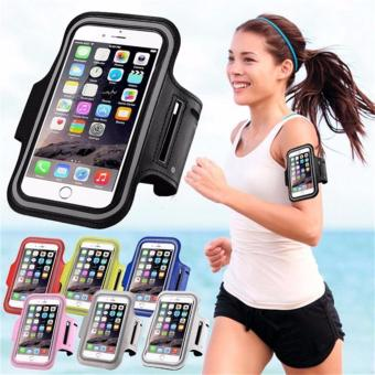 Universal Mobile Phone Armband Bag Sports Running Jogging Gym Armband Arm Band Case Cover Holder for iPhone 6 7 Smart Phone 5Inches (Black) - intl