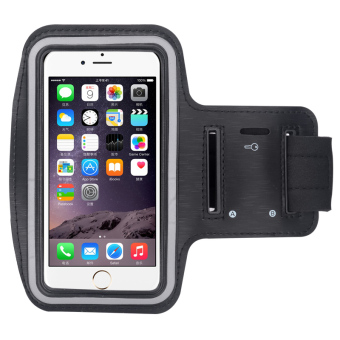 Universal Mobile Phone Armband Bag Sports Running Jogging GymArmband Arm Band Case Cover Holder(BLACK)