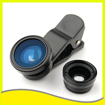 Universal Mobile Phone Case Lenses 3 in 1 Wide Angle Macro Fish EyeLens(Black) Price Philippines