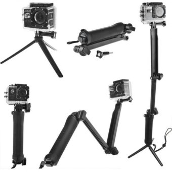 Universal Waterproof 3-Way Monopod For GoPro Hero 4/2/3/3+/SJCAMSJ4000/Xiaoyi 3 way Monopod Gopro Hero 5 Supported
