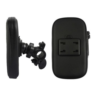 Universal Waterproof Bicycle Motorcycle Mobile Phone Holder BagBike Motorbike Mount Stand Cellphone Case for iPhone 6/6S (Black) -- intl - 2