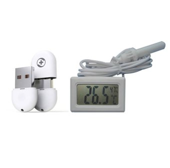 Uplift Nano 360 WiFi Receiver Bundle with Uplift THX-166 Mini Digital Thermometer and Hygrometer (White)
