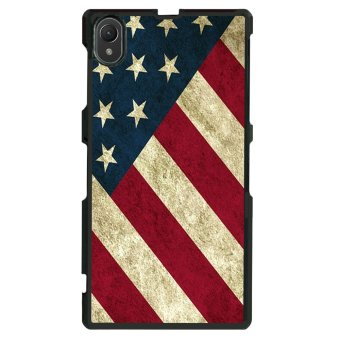 USA Flag Pattern Phone Case for Sony Xperia Z1 L39h (Multicolor)