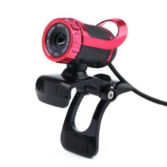 USB 12 Megapixel HD Camera Web Cam 360?A?? MIC Clip-on for ComputerLaptop PC Red