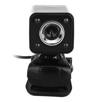 USB 2.0 5.0MP LED HD Webcam Web Camera Cam MIC for PC Laptop Black