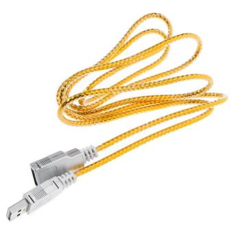 USB 2.0 Male to Female Flat Extension Cable Wire - Golden (140cm) -intl