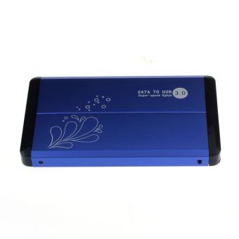 USB 3.0 External 2.5Inch SATA Hard Disk Drive Enclosure Case (Blue)