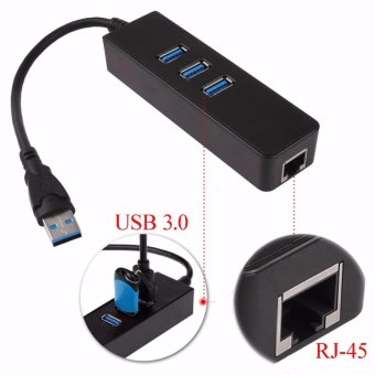 USB 3.0 1000Mbps Gigabit Ethernet Adapter USB to RJ45 Lan Network Card USB3.0 Hub for Windows 7/8/10/Vista/XP Linux PC Free Drive - intl
