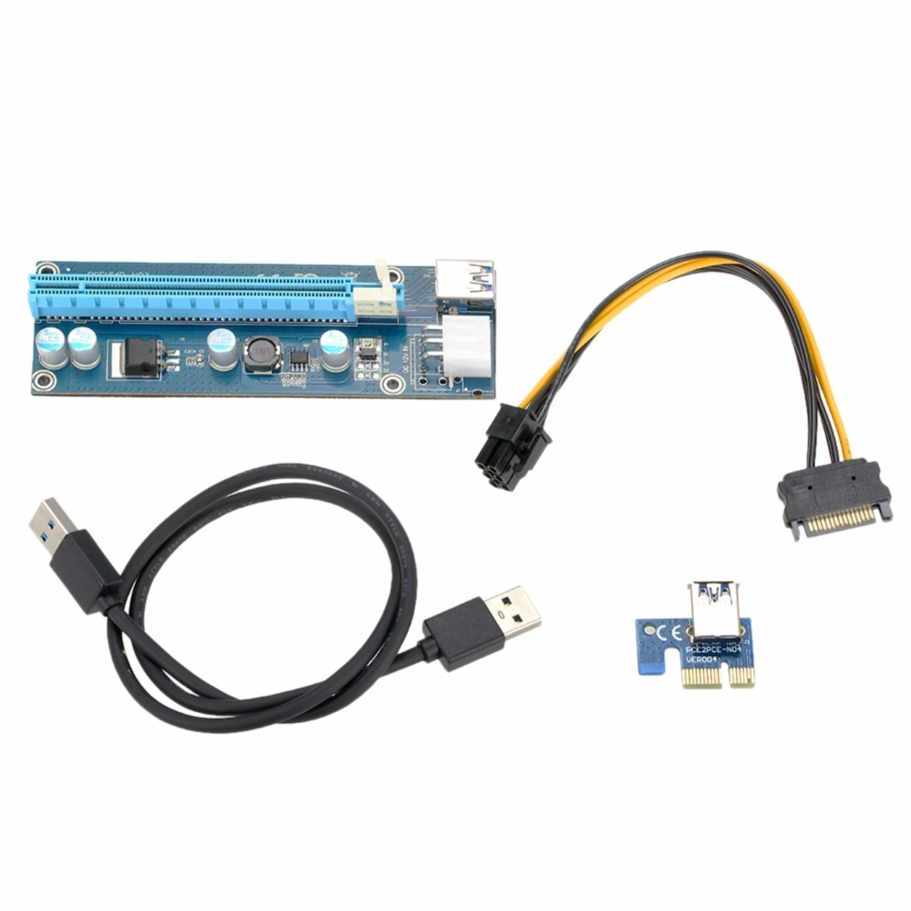 Philippines Usb 30 Pci E Extender Riser Card 1x To 16x 4 Solid Capacitor Adapter Withpower