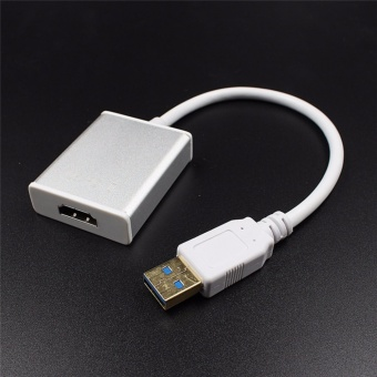 Usb 3.0 To Hdmi Converter Cable Display Graphic Adapter 1080p AudioWith Cd Driver - intl