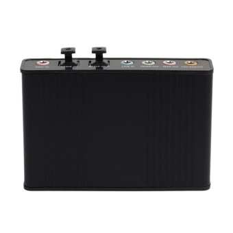USB 6 Channel 5.1 External Optical Audio Sound Card for NotebookPC(Black) - intl - 3