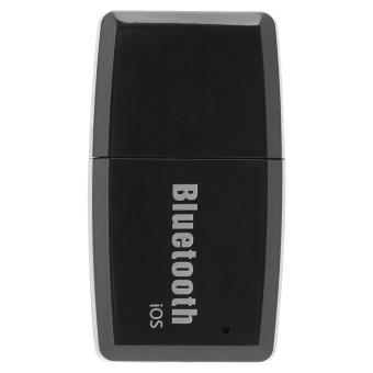 USB Bluetooth 4.1 Music Receiver Wireless Stereo Audio Adapter CarKit Black iOS - intl