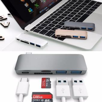 USB-C HUB Multifunction Type-C HUB Converter with SD / Micro SD Card Reader 5 in 1 Support PD Charging for MacBook - 2